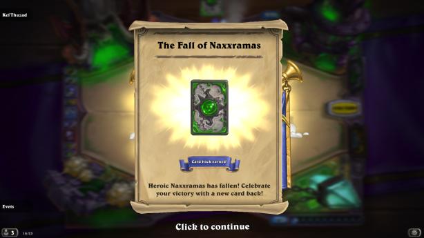 Naxxramas heroic card back