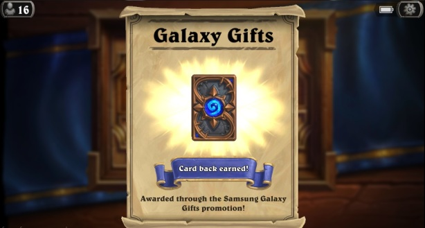 Galaxy gifts card back